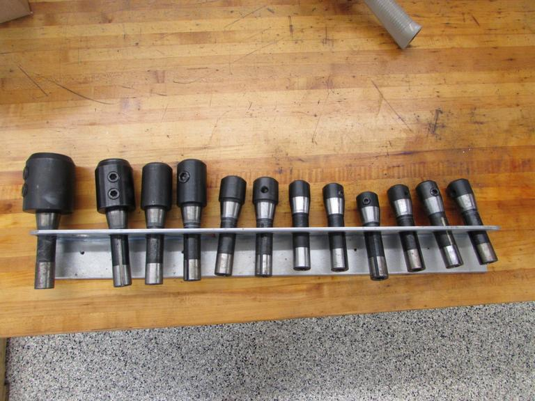 (12) R8 Shank End Mill Holders with Rack