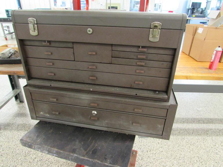Kennedy 9-Drawer Machinist's Chest with 2-Drawer Riser and Contents