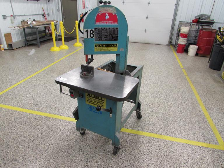 Roll-In Model SF Gravity Feed Vertical Band Saw with 110 Volt Single Phase Motor