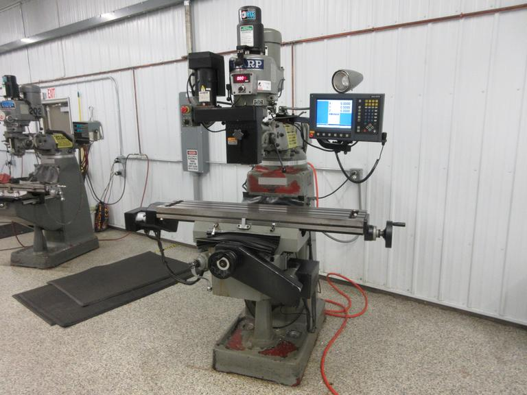Sharp Millpower TMV-MP2 3-Axis CNC Vertical Milling Machine with Probe, Electronic Variable Spindle Speeds and Kurt Power Draw Bar
