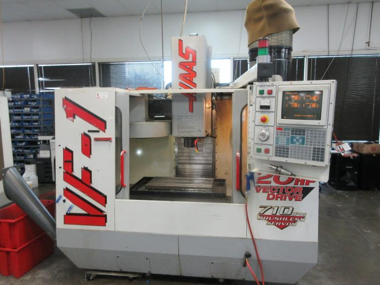 Haas VF-1 CNC Vertical Machining Center with 4th -Axis Drive, 2-Speed Gearbox