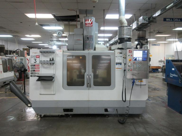 Haas VF-3 SS 5-Axis CNC Vertical Machining Center with Haas TR-160-2 Programmable 2-Axis Dual Trunnion Rotary Table and Probing