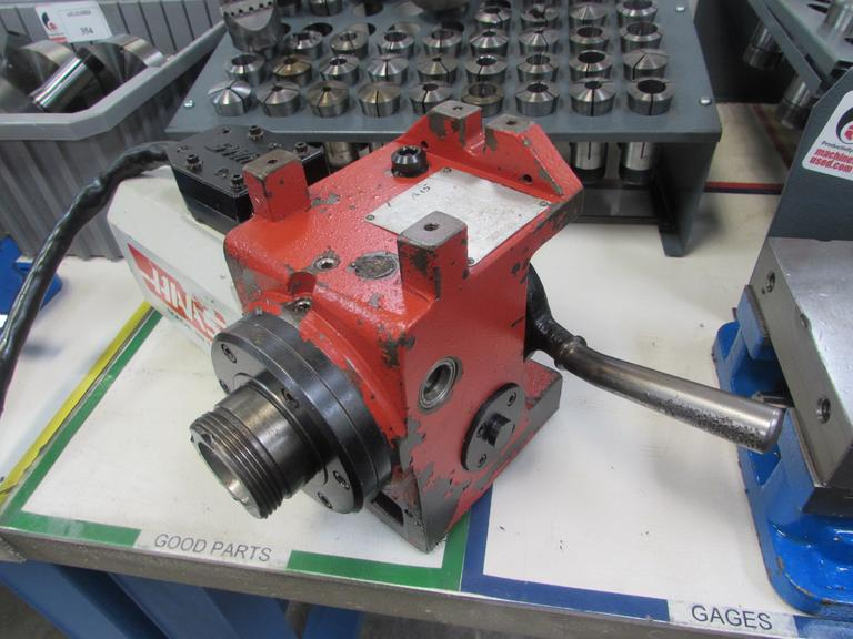 Haas HA5C Programmable Rotary Table, Brush Drive Motor, 5C Lever Collet Closer, Cable, Connector