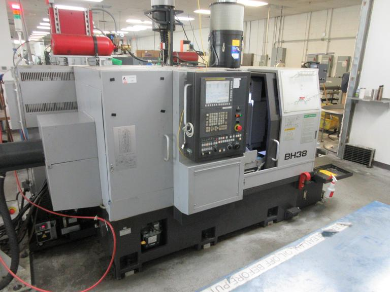 Tsugami BH38SY 10-Axis CNC Swiss Screw Machine with Live Turret, Sub-Spindle, C-Axis, Live Milling, LNS 12' Bar Feed, HP Coolant