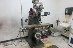 Bridgeport Series I 2HP Variable Speed Vertical Toolroom Mill with Newall 2 Axis DRO, Quill Scale, Power Feed
