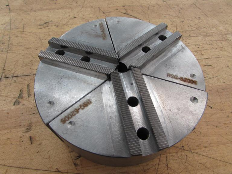 "Set of New Steel Pie Jaws for 6"" 3-Jaw Chuck.  2"" Thick"