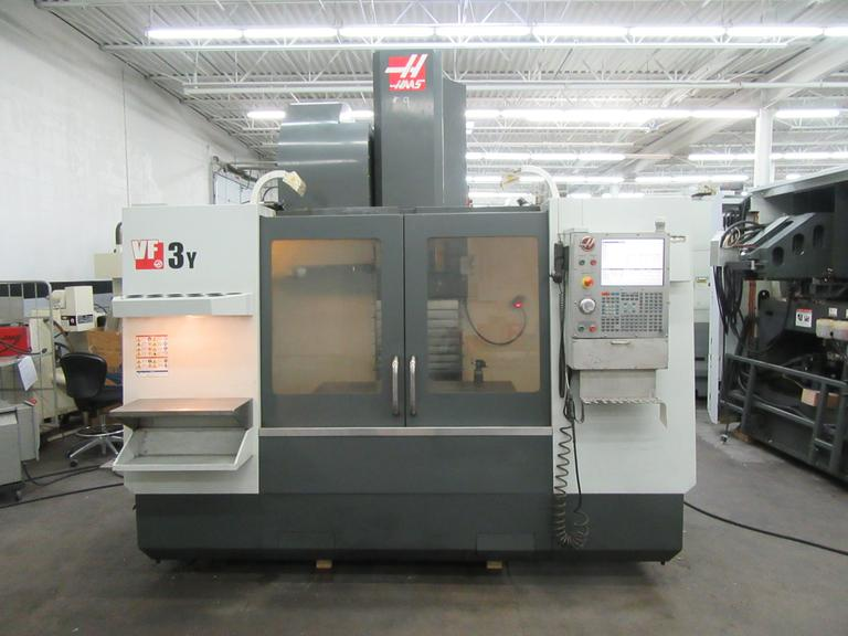 Haas VF-3YT/50 Vertical Machining Center with 2-Speed Gearbox, Cat 50 Taper, 4th Axis Drive, Tool Probe