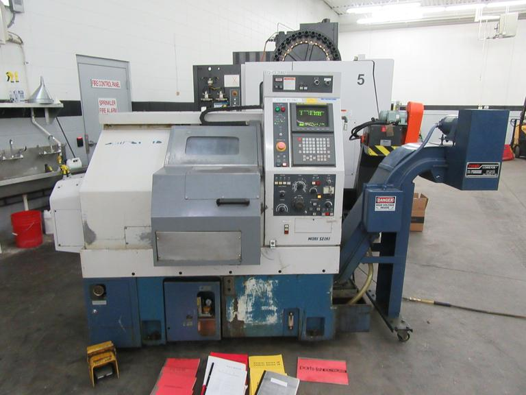Mori Seiki CL-20B CNC 2-Axis Turning Center with Tool Presetter, Parts Catcher, and Turbo Chip Conveyor