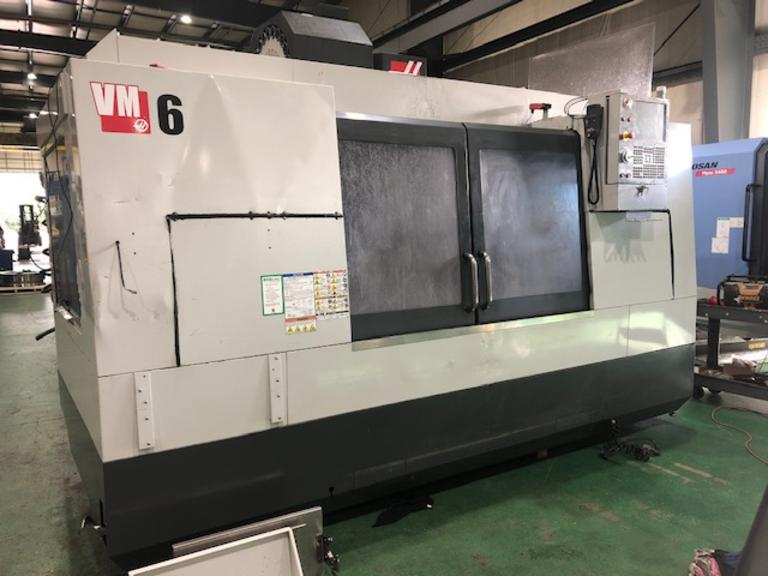 Haas VM-6 CNC Vertical Machining Center w Haas CNC Control, Coolant Tanks and Pumps