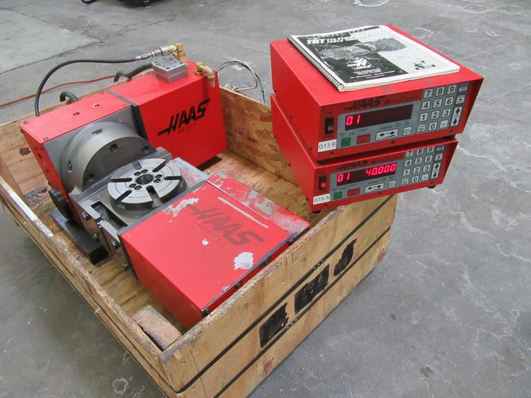 Haas TRT-160 2-Axis Brushed Type Programmable Rotary Table with Servo Control Boxes