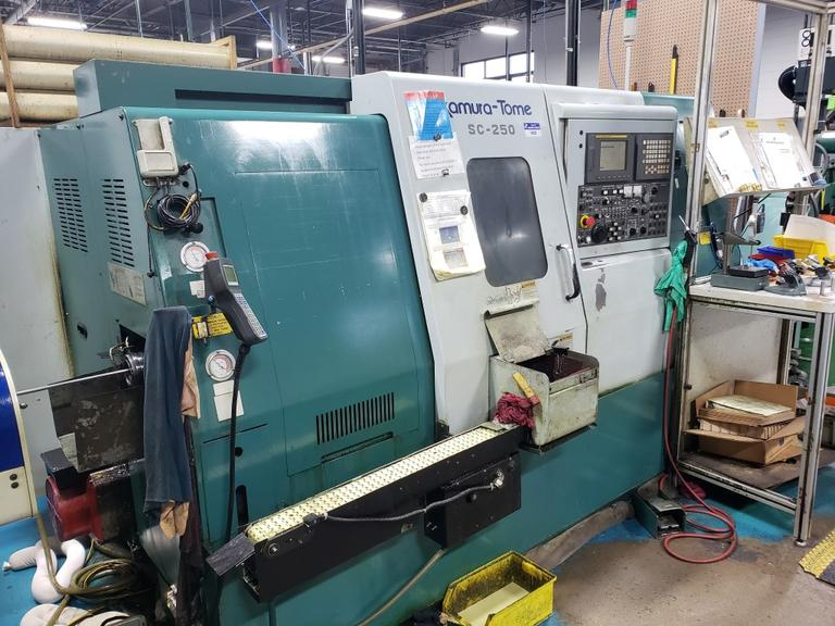 Nakamura Tome SC-250 CNC Turning Center with Live Milling, Sub-Spindle and Y-Axis