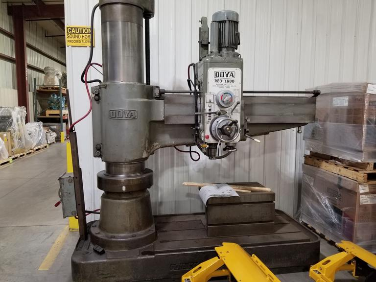 Ooya RE3-1600 5' Radial Arm Drill