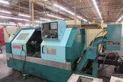 Methods Slant 50 CNC Turning Center with Yasnac Control and Chip Conveyor