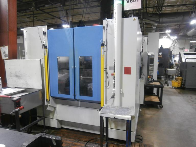 Chiron DZ24 W HS Twin Spindle, Twin Pallet 4-Axis CNC Vertical Machining Center
