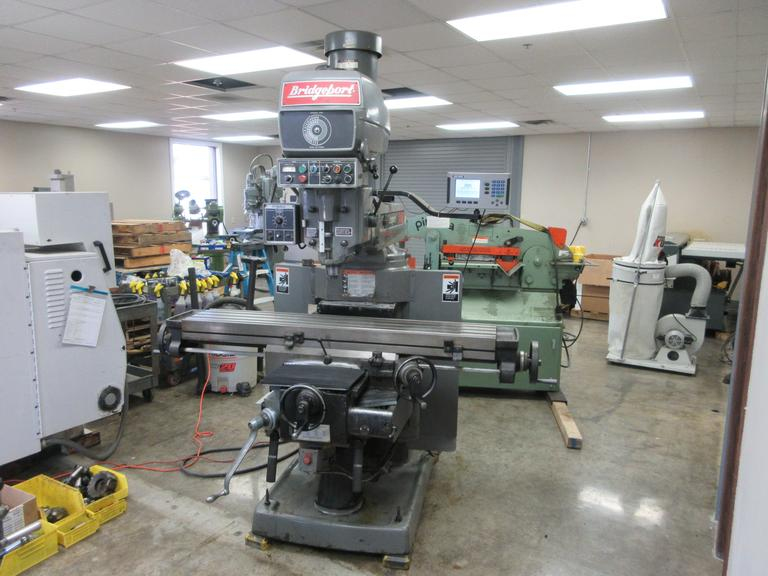 Bridgeport Series II Knee Mill with AcuRite 200S 3-Axis Digital Readout, Power Feeds