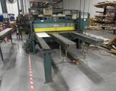 Wysong 1072 6' x 10 Gage Mechanical Power Squaring Shear with Front and Rear Gaging Systems