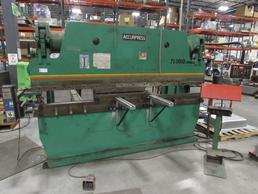Accurpress 713010 10' 130-Ton Hydraulic Press Brake with Autogage Backgage