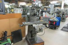 Bridgeport 2J Vertical Milling Machine, Variable Speed, with Acu-Rite Millvision 3-Axis DRO