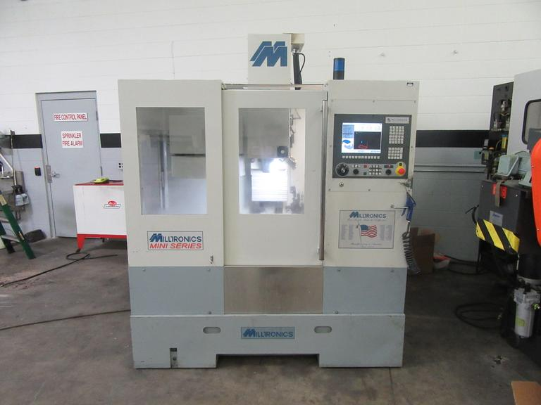 Milltronics RW-14 CNC Vertical Machining Center Updated with Milltronics 8200 CNC Control and Renishaw Probing